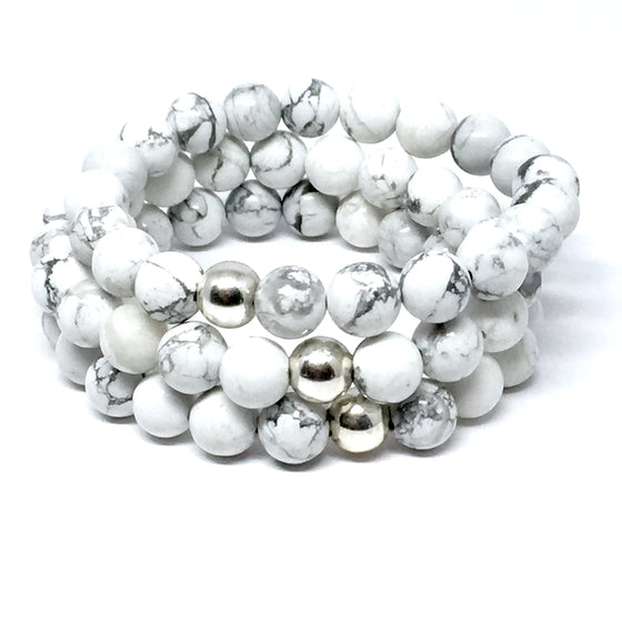 "THE ""WHITEOUT"" MALA BRACELET"
