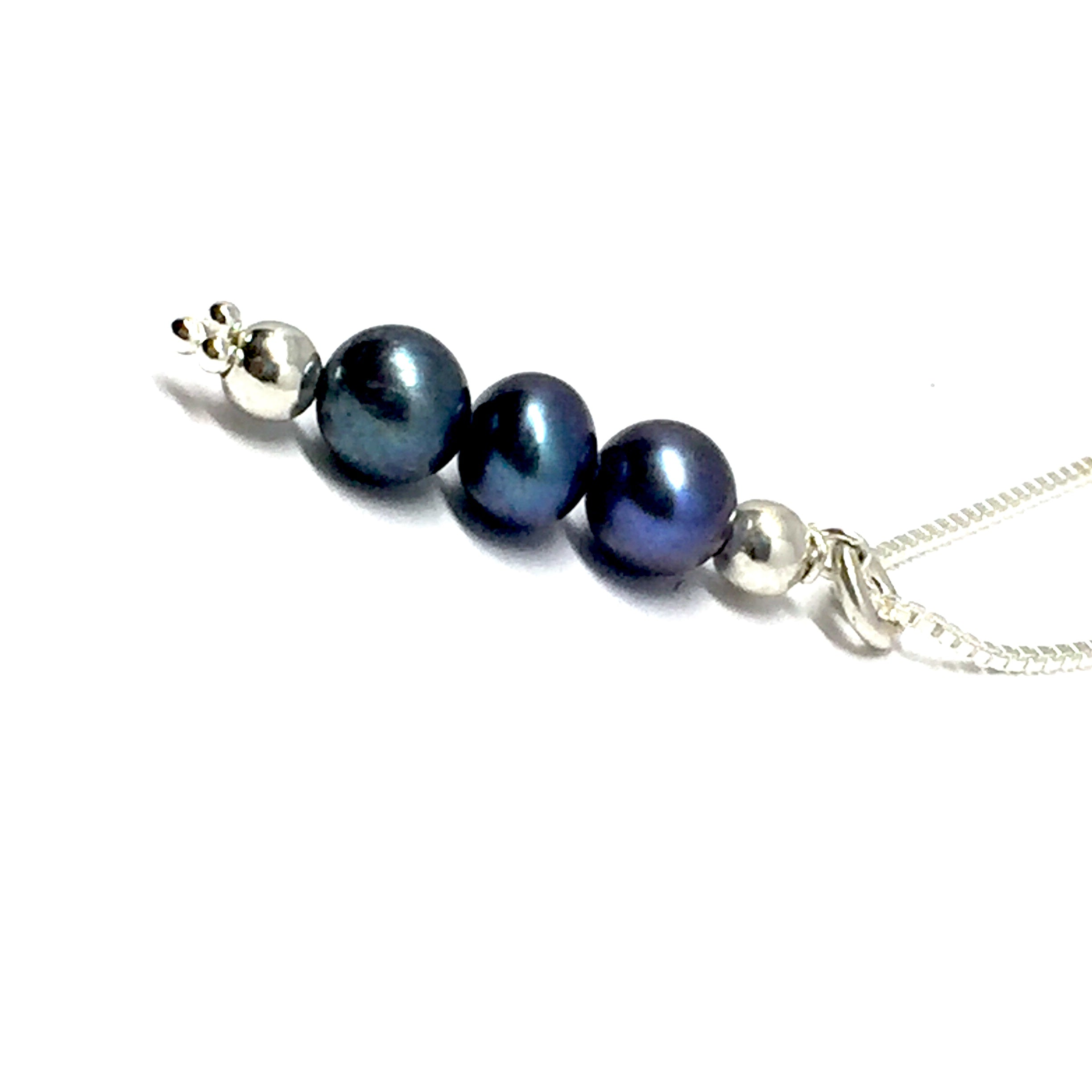 3 Peas in a Pod Necklace (Peacock Pearl)