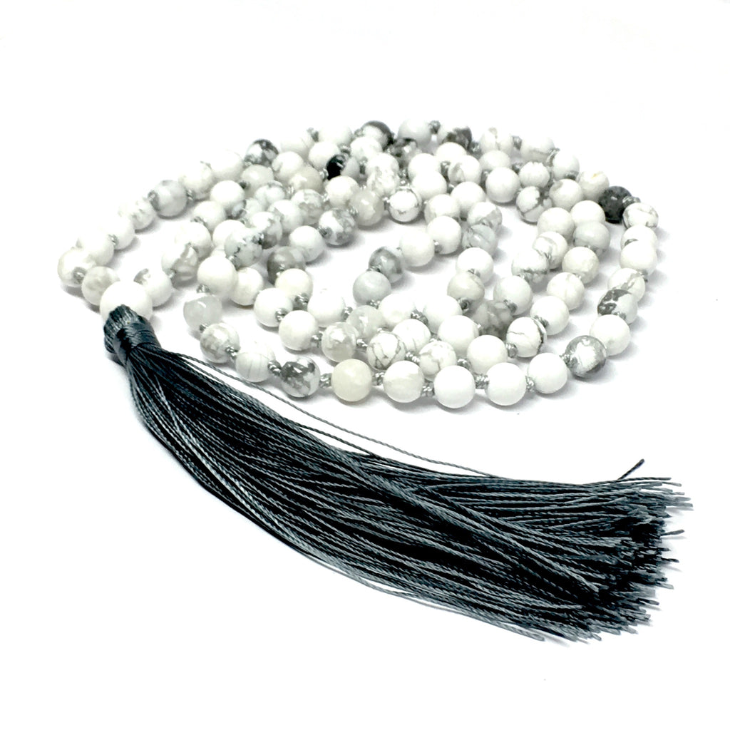 MALA NECKLACE - 6MM HOWLITE STONE