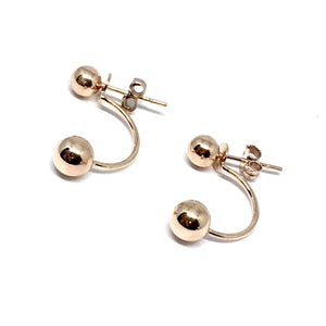 "THE ""DOUBLE DROP"" 2-IN-1 ROSE GOLD EARRINGS"