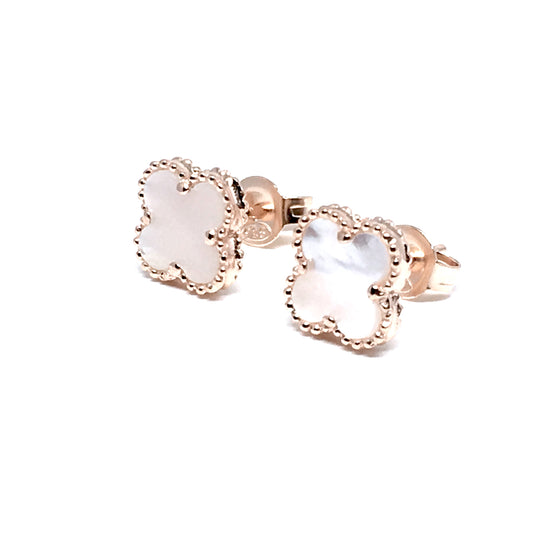 ROSE CLIFF PEARL STERLING SILVER EARRINGS (8mm)