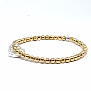 "THE ""OPEN HEART"" GOLD & STERLING SILVER BRACELET"