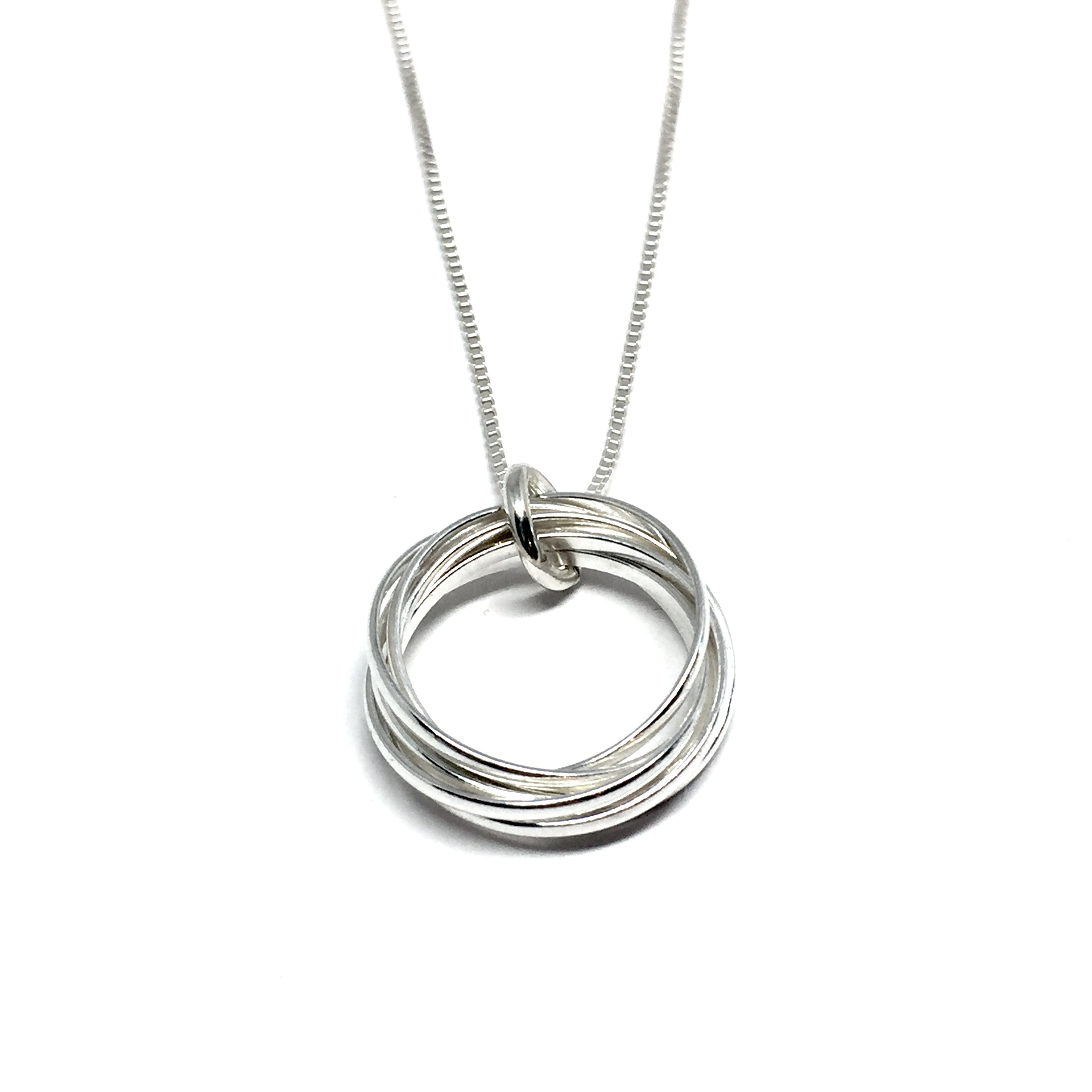 loop card ringette magic necklace on polished solechette products holder silver ring