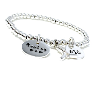 4mm Sterling Silver Custom Hockey Bracelet