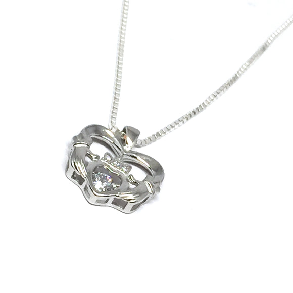 Irish Claddagh Heart Necklace