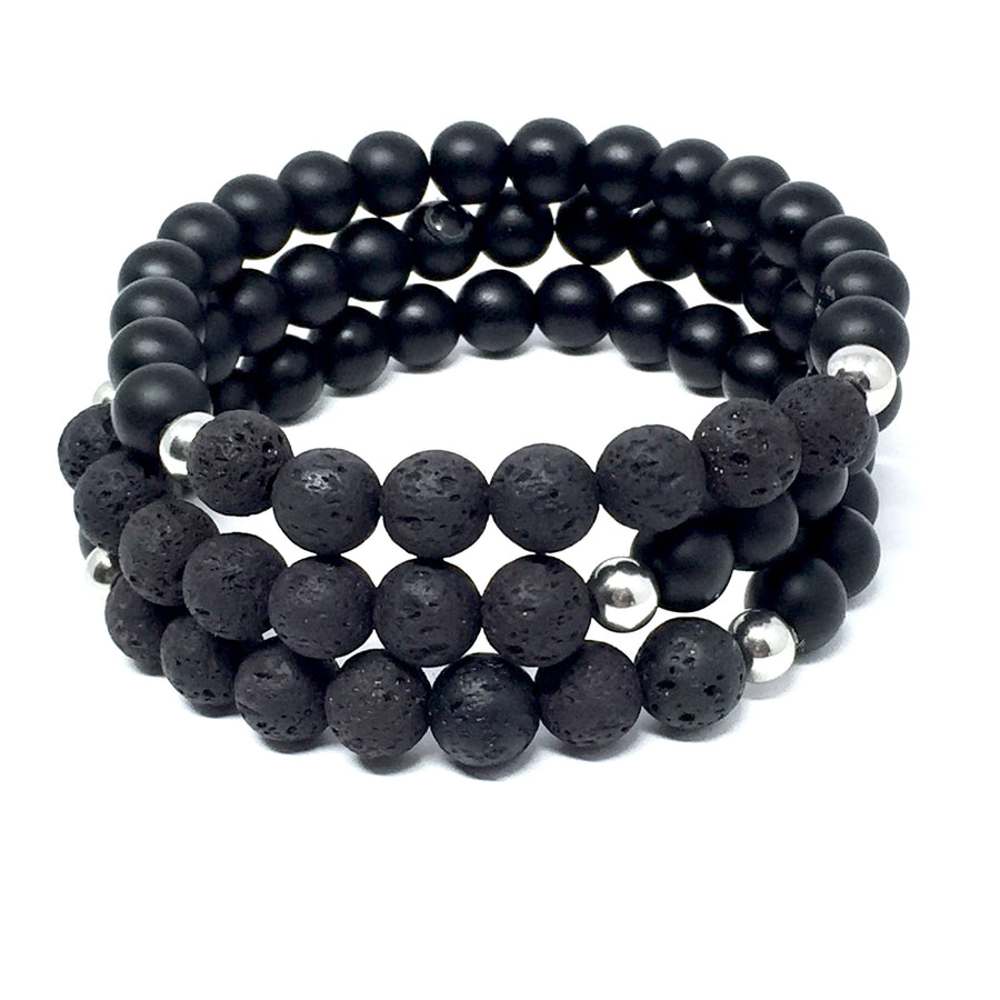 "THE ""BLACKOUT"" UNISEX MALA BRACELET"