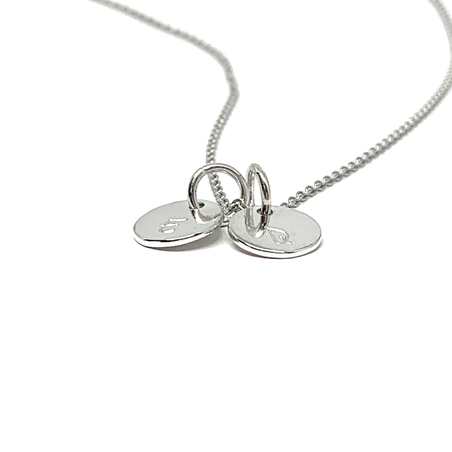 Custom Itty Bitty Silver Initial Necklace