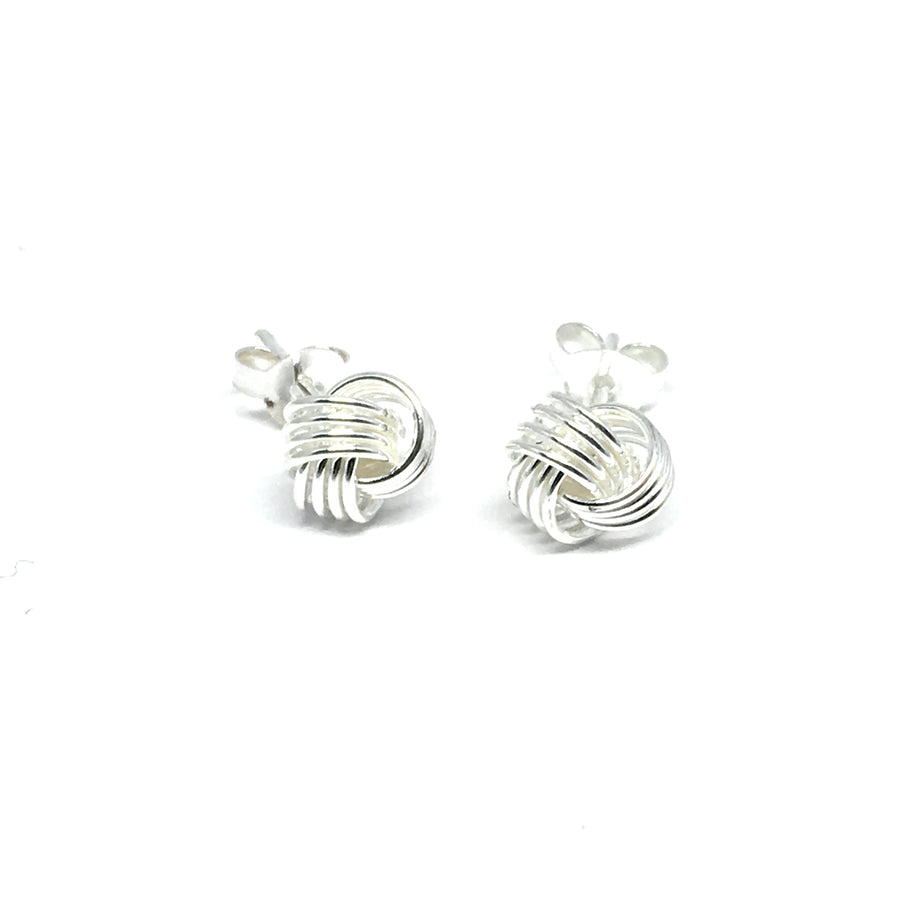 6MM STERLING SILVER LOVE KNOT EARRINGS