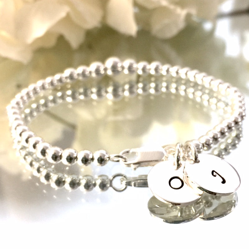 "THE ""PRINCESS"" STERLING SILVER BRACELET W/ CUSTOM TAGS"