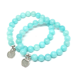 Aqua Stone Teacher's Stardust Apple Bracelet