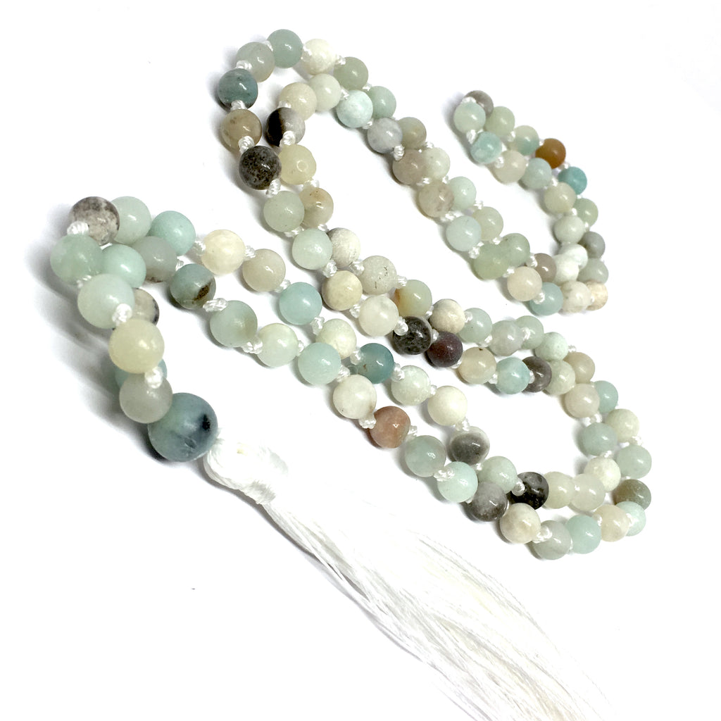 MALA NECKLACE - 6MM AMAZONITE STONE