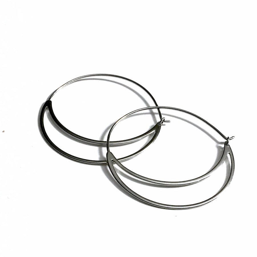 STERLING SILVER BOHO STYLE HOOP EARRINGS