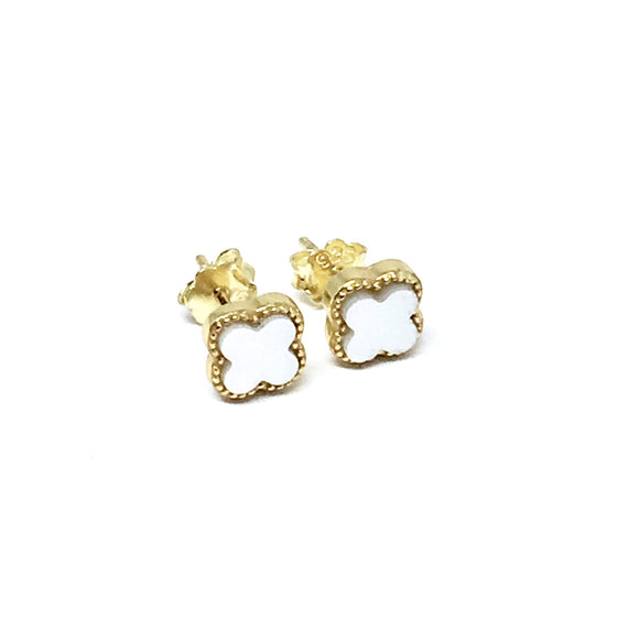 GOLD CLIFF PEARL EARRINGS (6mm)