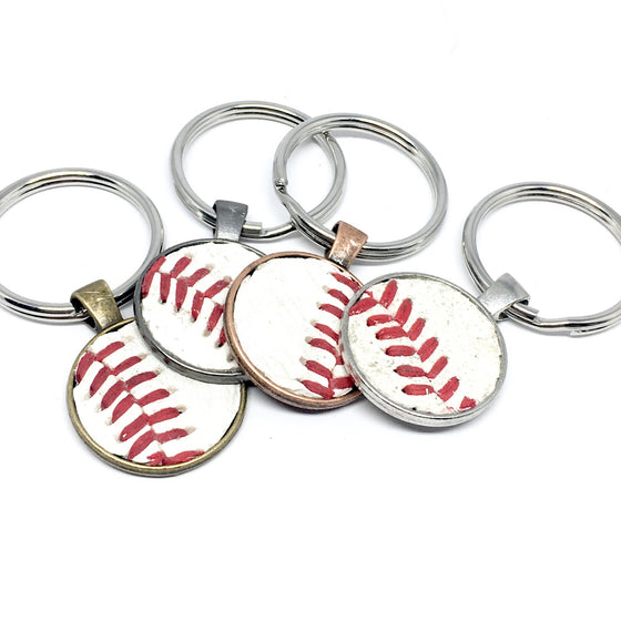 REAL BASEBALL KEYCHAIN