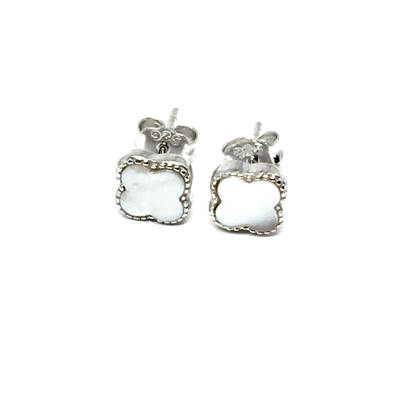 WHITE CLIFF PEARL STERLING SILVER EARRINGS (6mm)