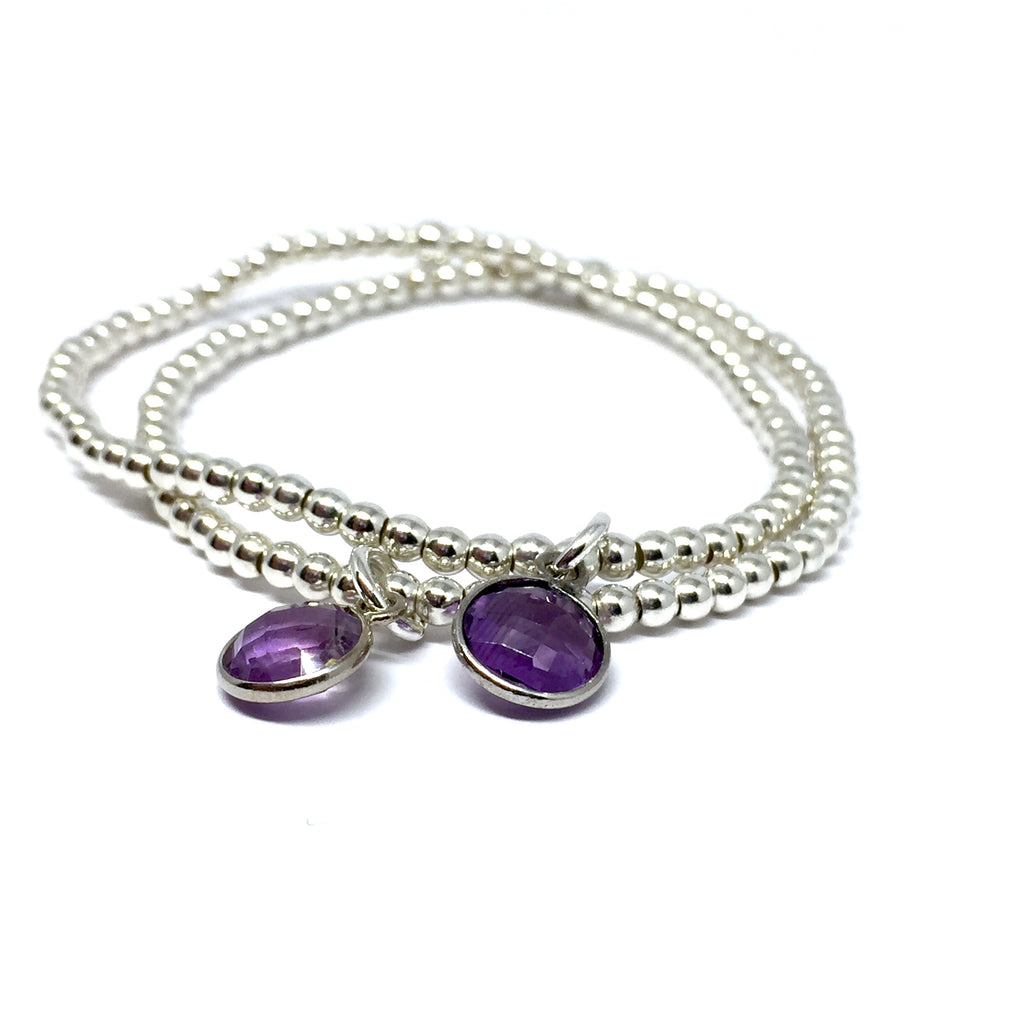"THE ""PURPLE RAIN""  STERLING SILVER BRACELET"