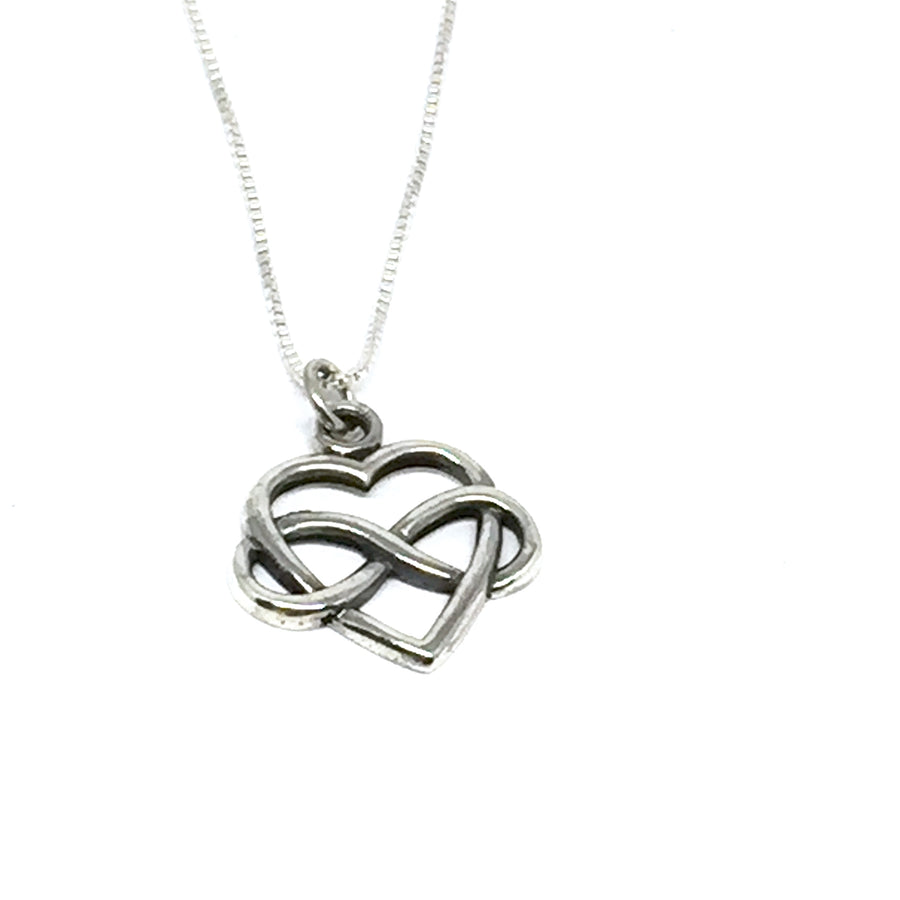 "STERLING SILVER ""FOREVER HEART"" NECKLACE"