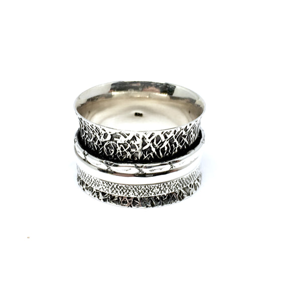 THE HAZELY STERLING SILVER MEDITATION / SPIN RING