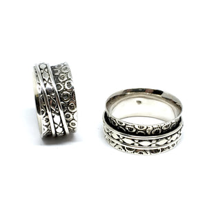 THE IVORY STERLING SILVER MEDITATION / SPIN RING