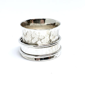 THE KENNEDY STERLING SILVER MEDITATION / SPIN RING