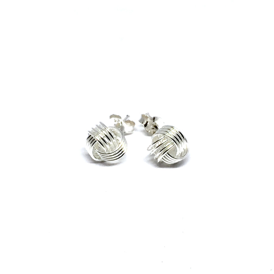 8MM STERLING SILVER LOVE KNOT EARRINGS