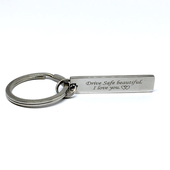 Drive Safe Rectangle Keychain