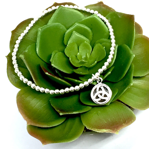 Sterling Silver Celtic Stretch Bracelet