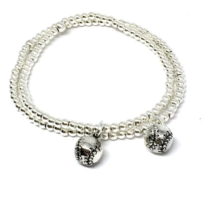 3MM STERLING SILVER BASEBALL BRACELET