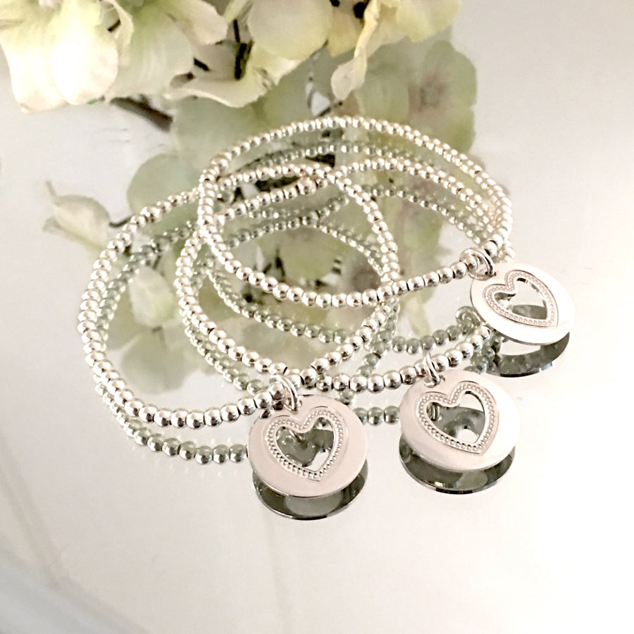 "THE ""BE MINE"" STERLING SILVER BRACELET"