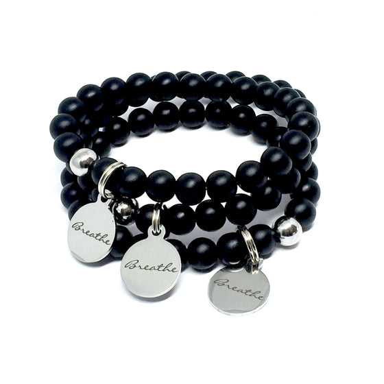"THE ""BREATHE"" ONYX BRACELET"