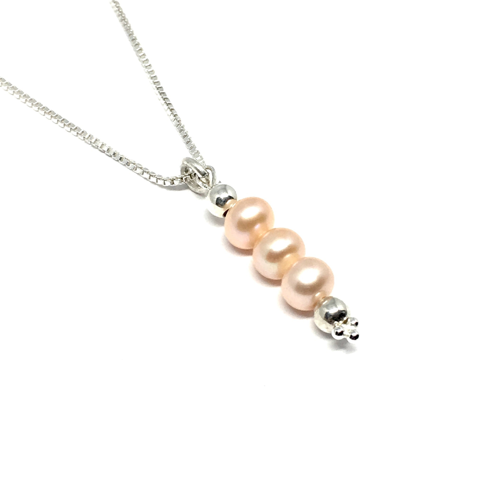 tourmaline sterling tourmalines necklace square silver product pearls peach beads