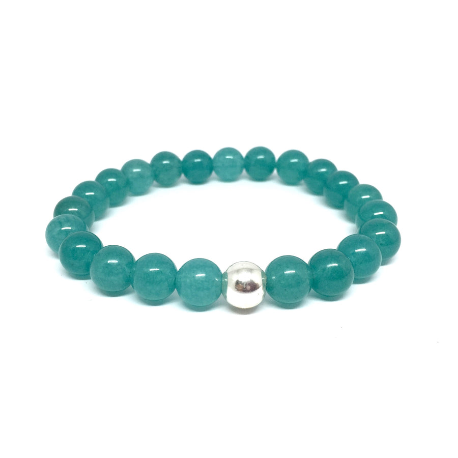 "THE ""ENERGY"" AQUA JADE MALA BRACELET"