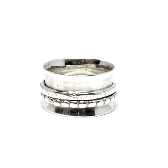 THE POLLY STERLING SILVER MEDITATION / SPIN RING