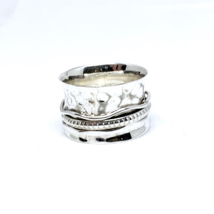 THE WAVERLY STERLING SILVER MEDITATION / SPIN RING