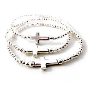 "THE ""ELEGANT CROSS"" STERLING SILVER BRACELET"
