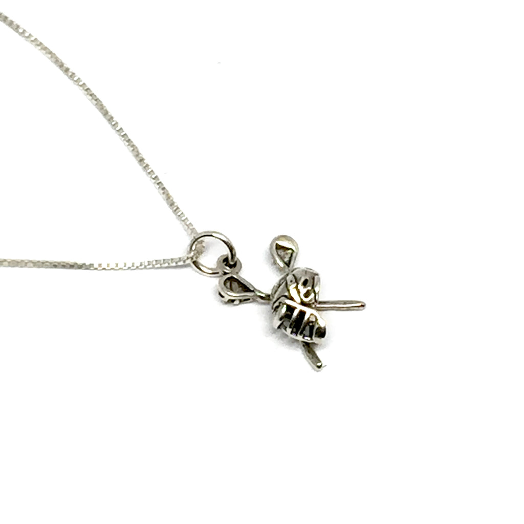 STERLING SILVER LACROSSE NECKLACE