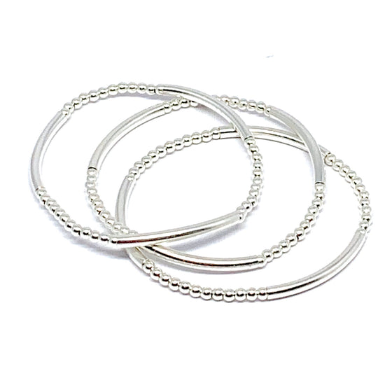 "THE ""SO CHIC"" STERLING SILVER BRACELET"