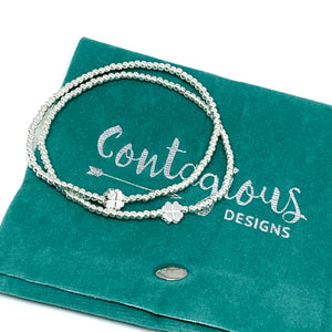 "THE ""LUCKY YOU"" FOUR LEAF CLOVER SILVER BRACELET"