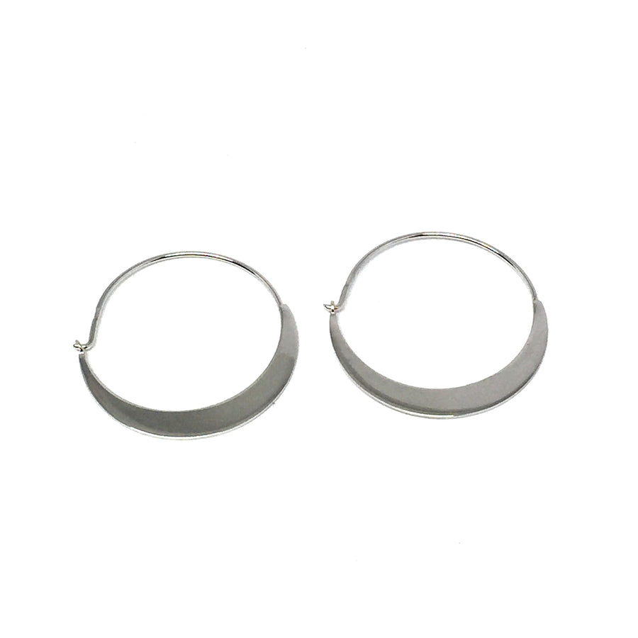 STERLING SILVER CRESCENT HOOPS