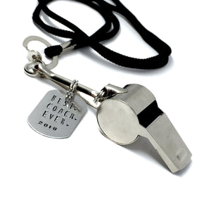 Coach's Whistle - Custom Stamped Tag