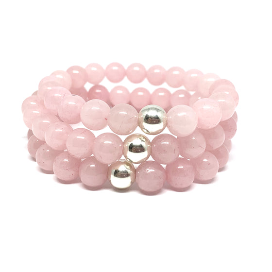 "THE ""ROSE QUARTZ"" MALA BRACELET"