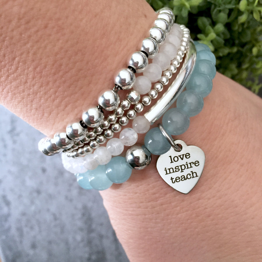 "THE ""LOVE & INSPIRE"" TEACHER MALA BRACELET"