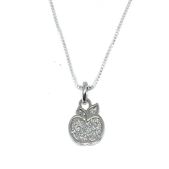 Sterling Silver Teacher's Stardust Apple Necklace