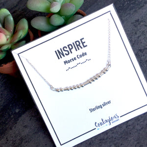 INSPIRE TEACHER MORSE CODE NECKLACE