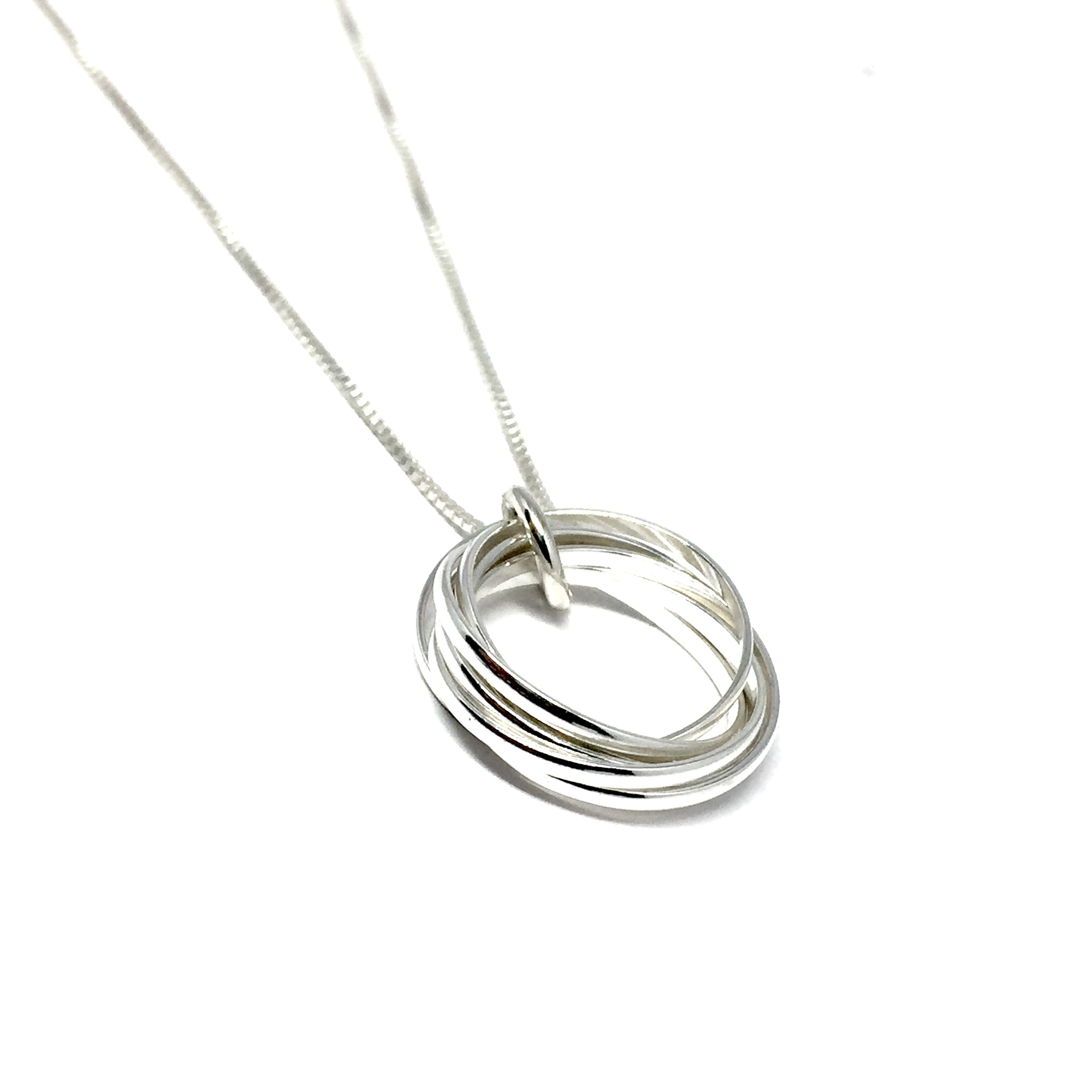 triple ring metal dogeared necklace metals karma mixed