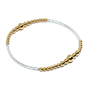 "THE ""CLEOPATRA"" GOLD & STERLING SILVER BRACELET"