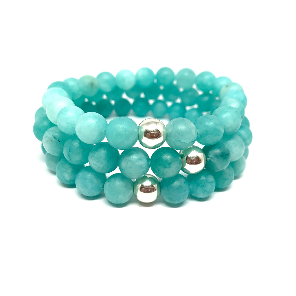 "THE ""FROSTED AMAZONITE"" MALA BRACELET"