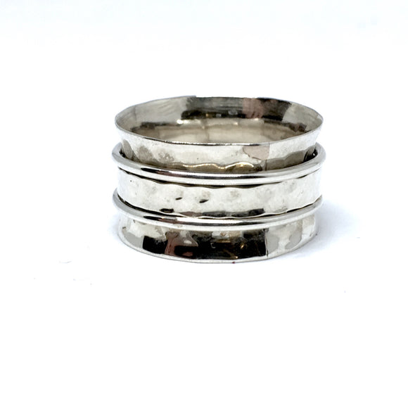 THE TORY STERLING SILVER MEDITATION / SPIN RING