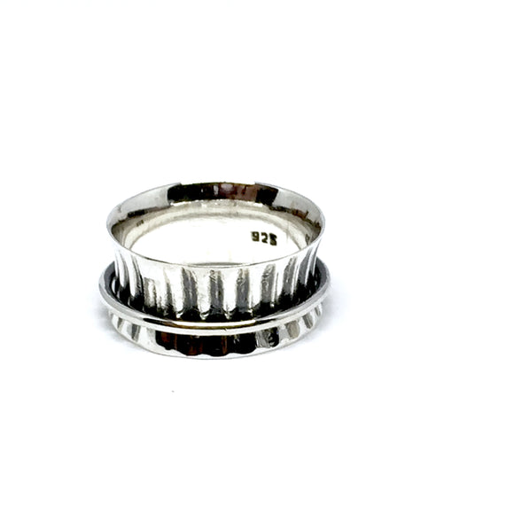 THE MARLEY STERLING SILVER MEDITATION / SPIN RING