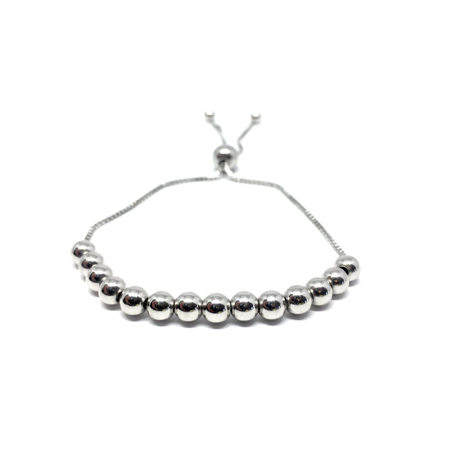 Adjustable 4mm Sterling Silver Ball Bracelet